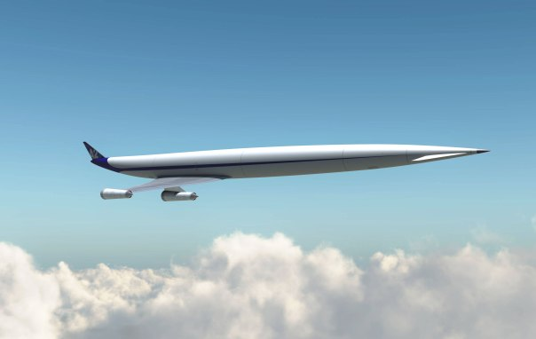 LAPCAT A2 - a supersonic plane - in flight.