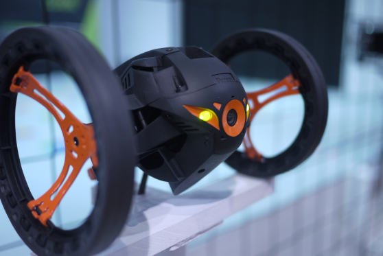 The Parrot Jumping Sumo robot from CES 2014
